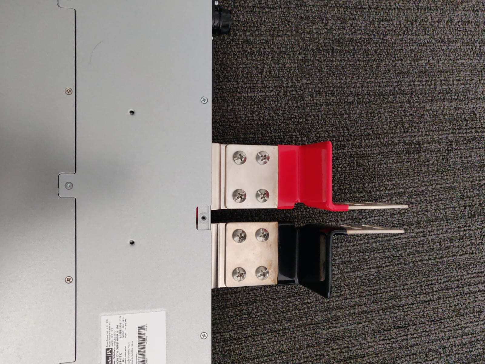 ESA kit power supply junctions (black and red)